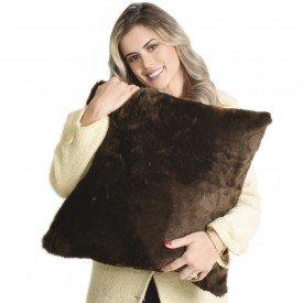 almofada marrom
