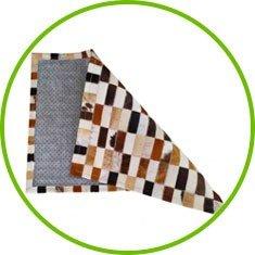 tapete dobrado couro bovino natural pele sul