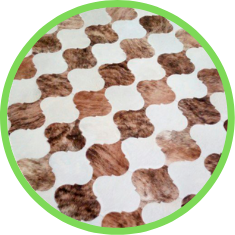 tapete inteiro couro bovino pele sul